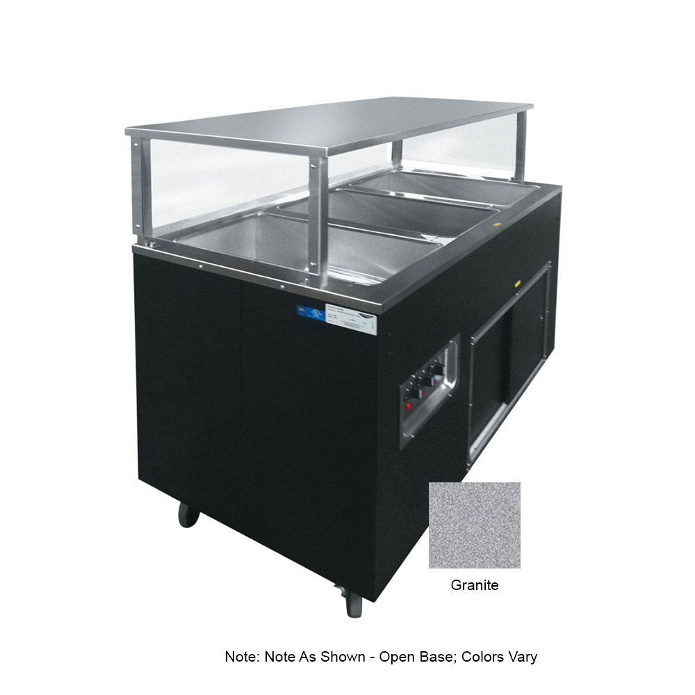 Vollrath 39728 3-Well Hot Cafeteria Unit - Open Base, Granite 120v