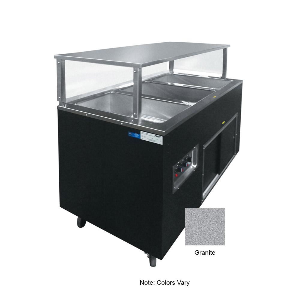 Vollrath 39729 3-Well Hot Cafeteria Unit - Storage Base, Granite 120v