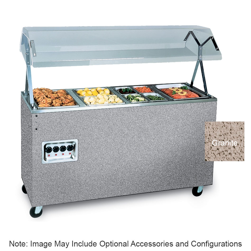 Vollrath 397302 4-Well Hot Cafeteria Unit - Solid Base, Granite 208-240v