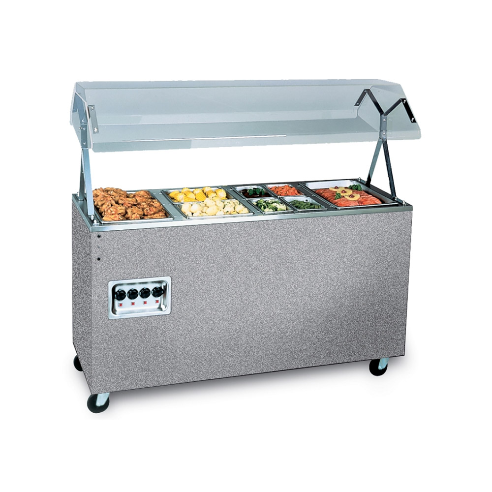 Vollrath 39730 4-Well Hot Cafeteria Unit - Solid Base, Granite 120v