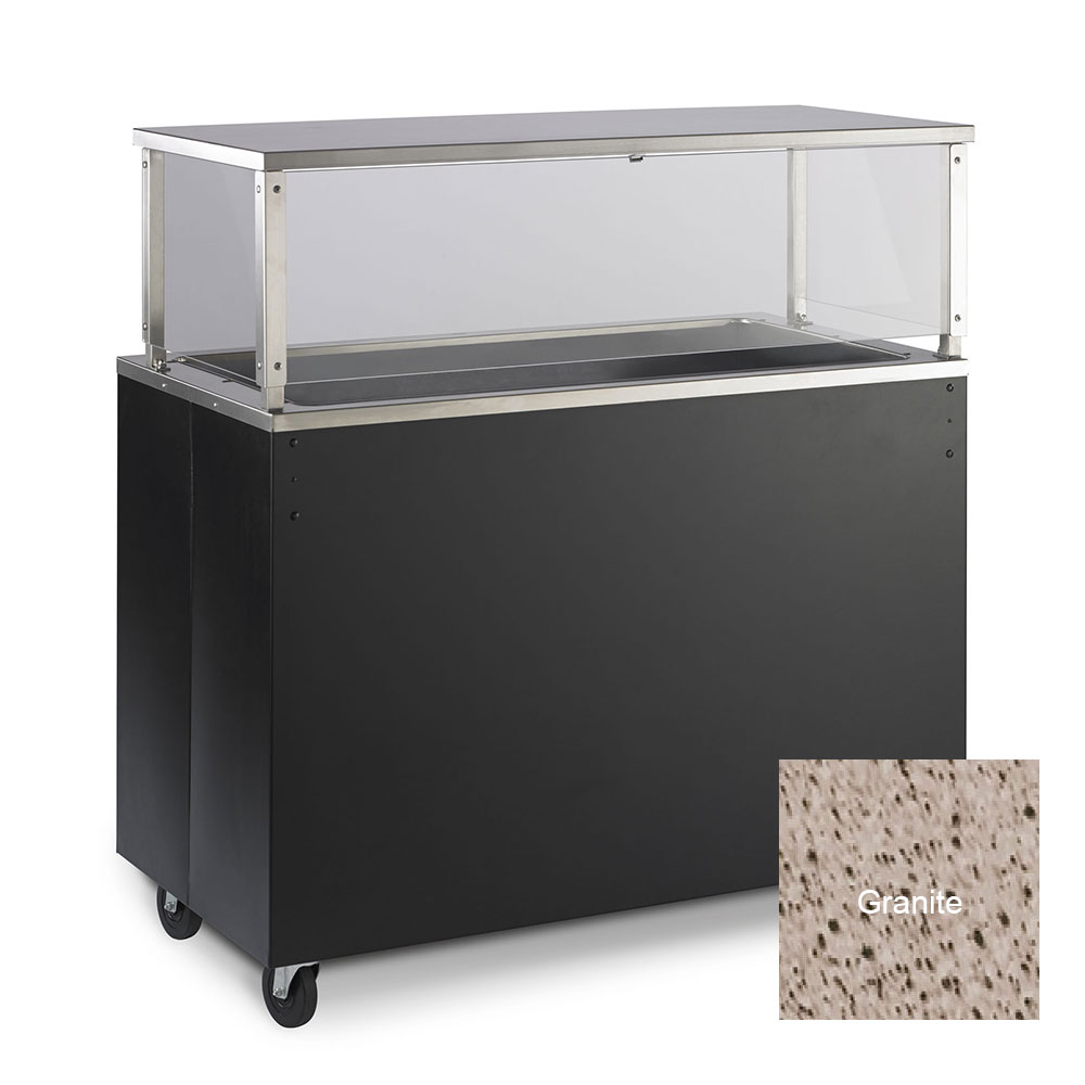 Vollrath 39733 3-Well Cold Cafeteria Unit - Non-Refrigerated, Solid Base, Granite