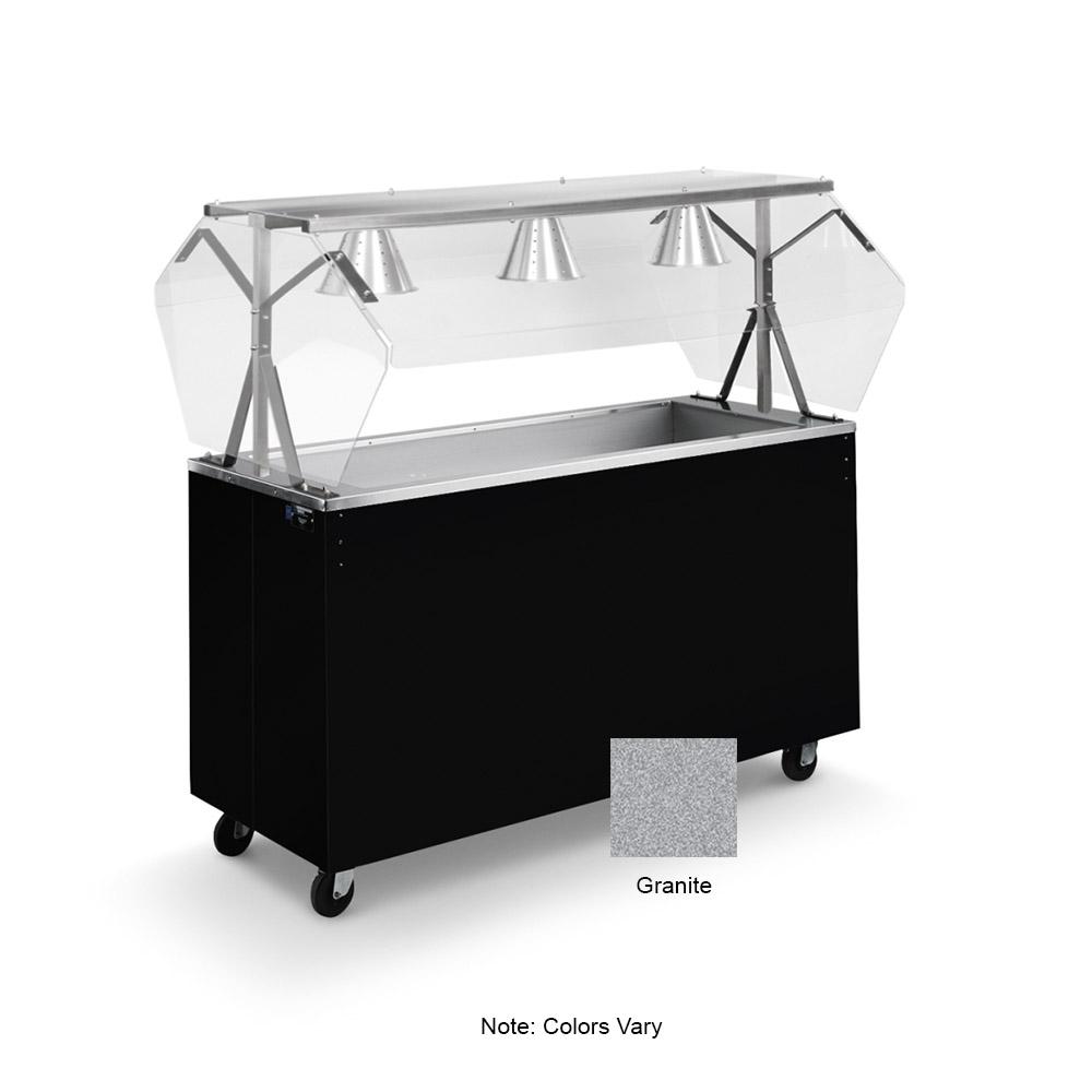 Vollrath 39735 3-Well Cold Cafeteria Unit - Non-Refrigerated, Storage Base, Granite