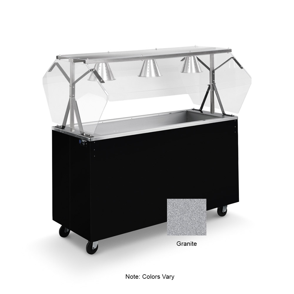 Vollrath 39736 4-Well Cold Cafeteria Unit - Non-Refrigerated, Solid Base, Granite