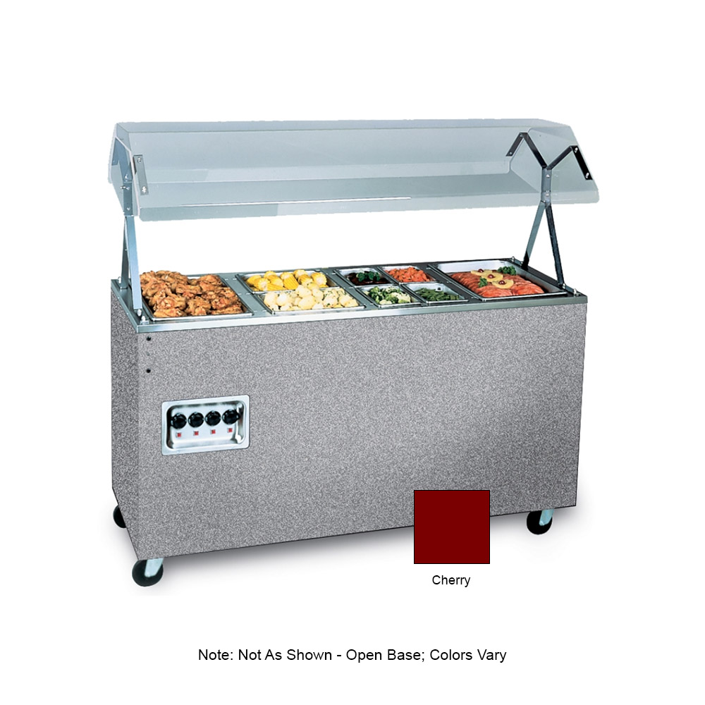 Vollrath 39768 3-Well Hot Cafeteria Unit - Open Base, Cherry 120v