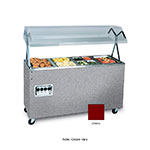 Vollrath 39770 4-Well Hot Cafeteria Unit - Solid Base, Cherry 120v