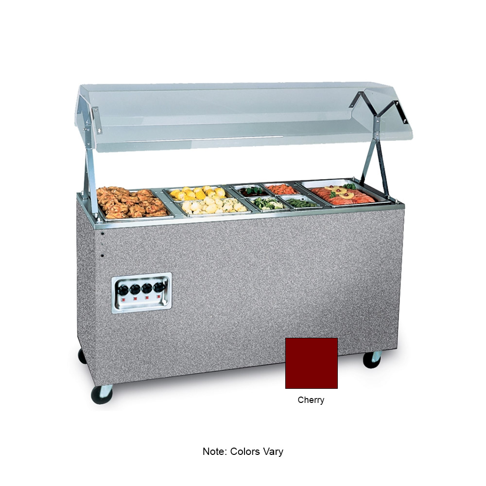 Vollrath 39772 4-Well Hot Cafeteria Unit - Storage Base, Cherry 120v
