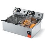 Vollrath 40707 Coutnertop Electric Fryer - (2) 10-lb Vat, 120v