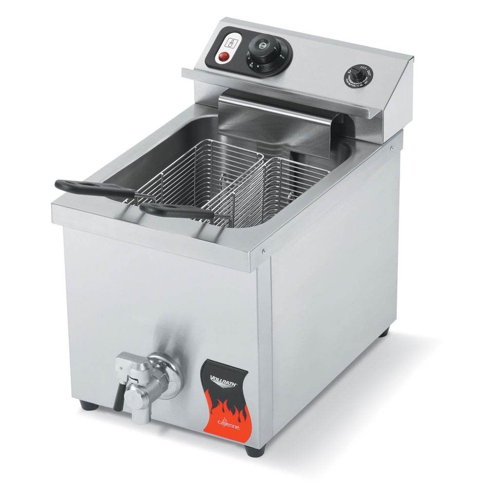 Vollrath 40709 Countertop Electric Fryer - (1) 15-lb Vat, 220v1ph