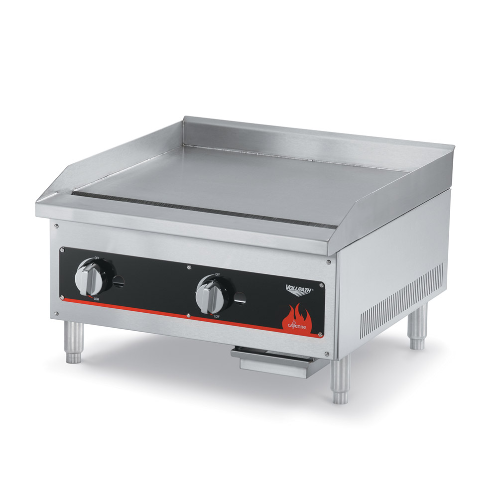 "Vollrath 40719 18"" Gas Griddle - Manual, 3/4"" Steel Plate"