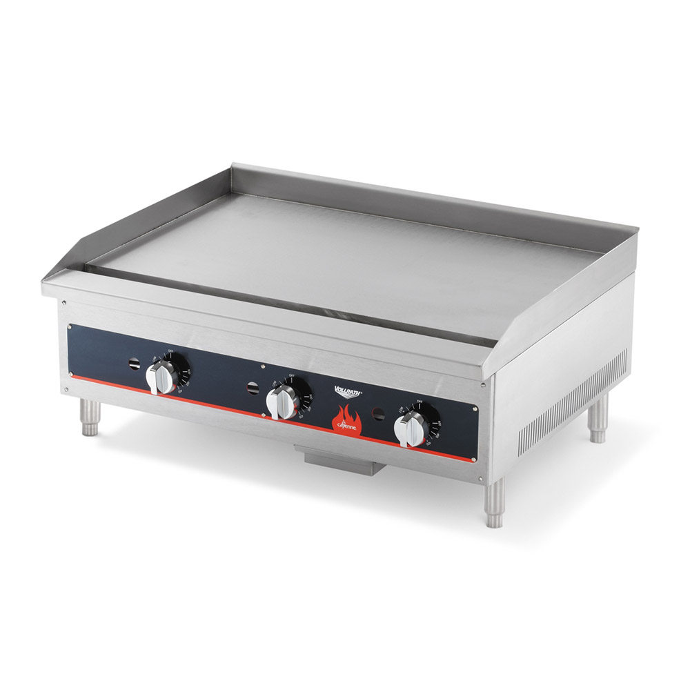 "Vollrath 40722 24"" Gas Griddle - Thermostatic, 3/4"" Steel Plate, NG"