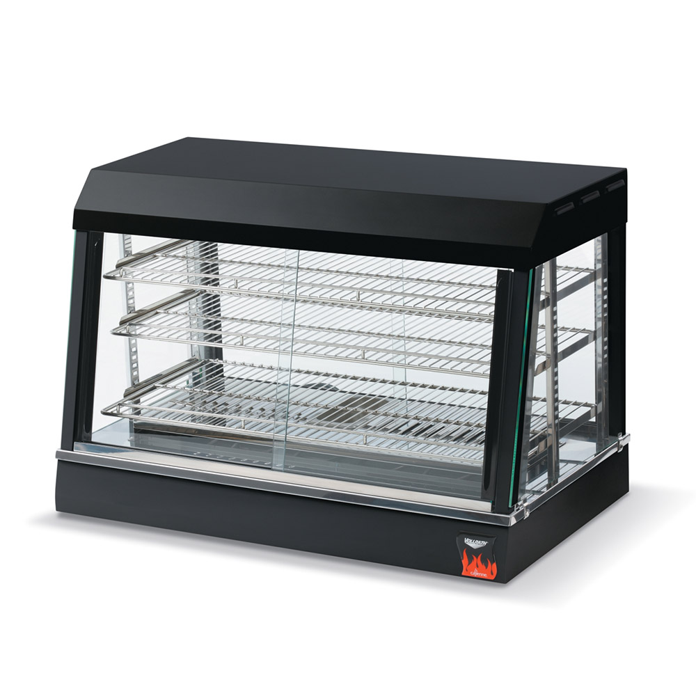 "Vollrath 40733 26"" Countertop Hot Food Merchandiser - 3 Adjustable Shelves, Thermostat 120v"