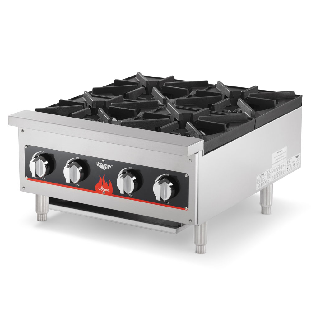 Vollrath 40737-PLATE 4-Burner Countertop Hot Plate - LP Conversion Kit, Stainless, 104,000 BTU NG