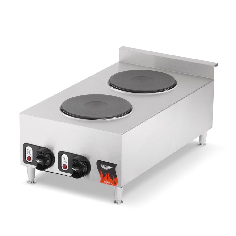 Vollrath 40739 2-Burner Countertop Hot Plate - Stainless 240v