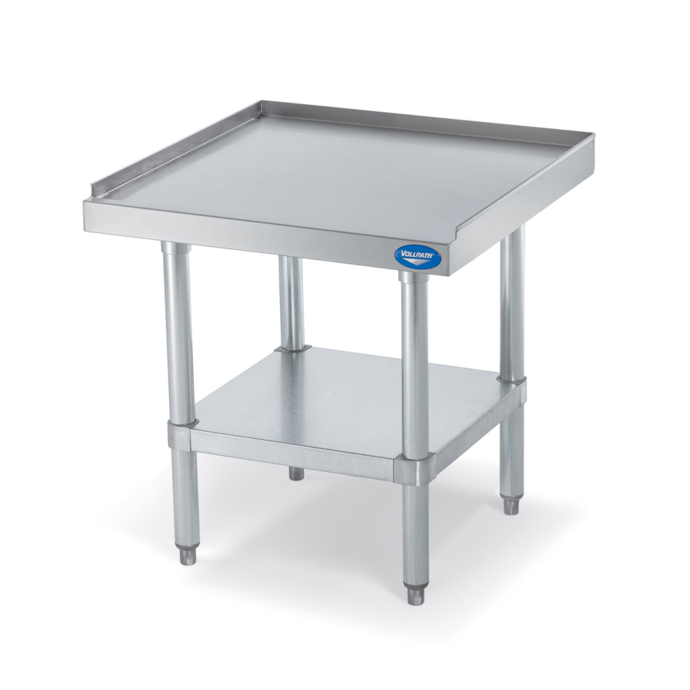 "Vollrath 40740 Equipment Stand with Shelf - 24x24x26"" Stainless Top, Galvanized Legs"