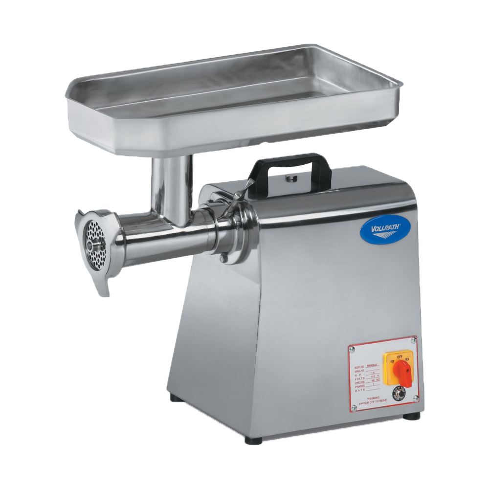 Vollrath 40744 Bench Style Meat Grinder - 528-lb Capacity, #22 Hub, Stainless 110v