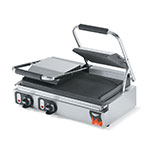 Vollrath 40795 Double Commercial Panini Press w/ Cast Iron Grooved Plates, 220v/1ph