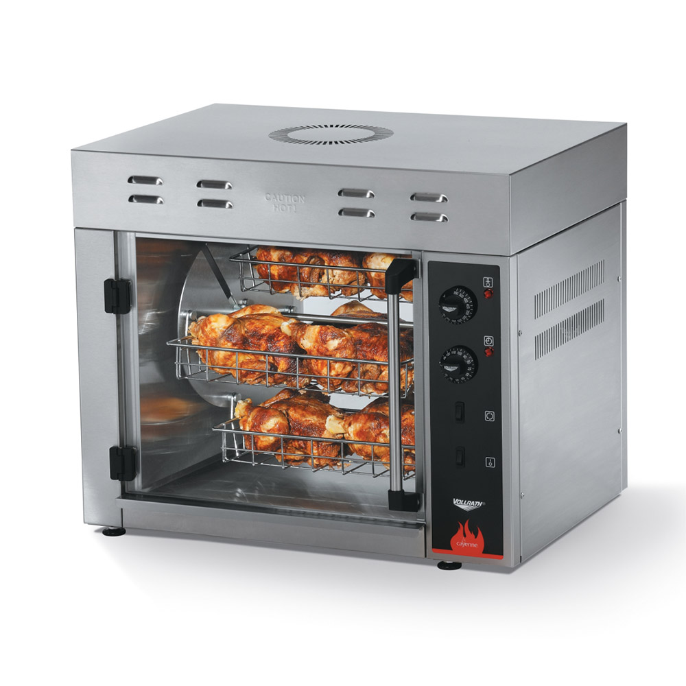 Vollrath 40841 Electric 15-Bird Commercial Rotisserie, 208-240v/1ph