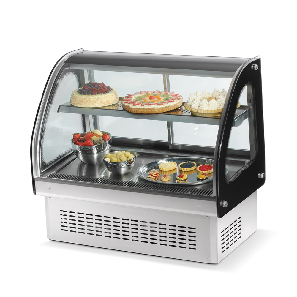 "Vollrath 40842 36"" Full Service Deli Case w/ Curved Glass - (2) Levels, 110v"