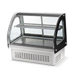 "Vollrath 40847 60"" Full-Service Countertop Heated Display Case w/ Curved Glass - (2) Levels, 120v"