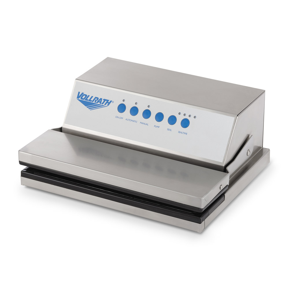 Vollrath 40858 Vacuum Pack Machine - Tabletop, Dry Items Only, Stainless 120v