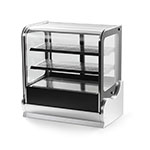 "Vollrath 40867 60"" Cubed Glass Countertop Heated Display Cabinet - 3 Shelves, 120v"