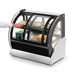 "Vollrath 40885 60"" Self-Service Countertop Heated Display Case w/ Curved Glass - (2) Levels, 120v"