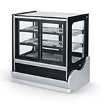 "Vollrath 40890 36"" Full Service Refrigerated Deli Case w/ Curved Glass - (4) Level, 120v"