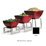 Vollrath 4600960 Square Buffet Stand - Set of 3 Risers, Black