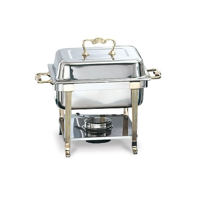 Vollrath 46035 Half Size Chafer w/ Lift-off Lid & Chafing Fuel Heat