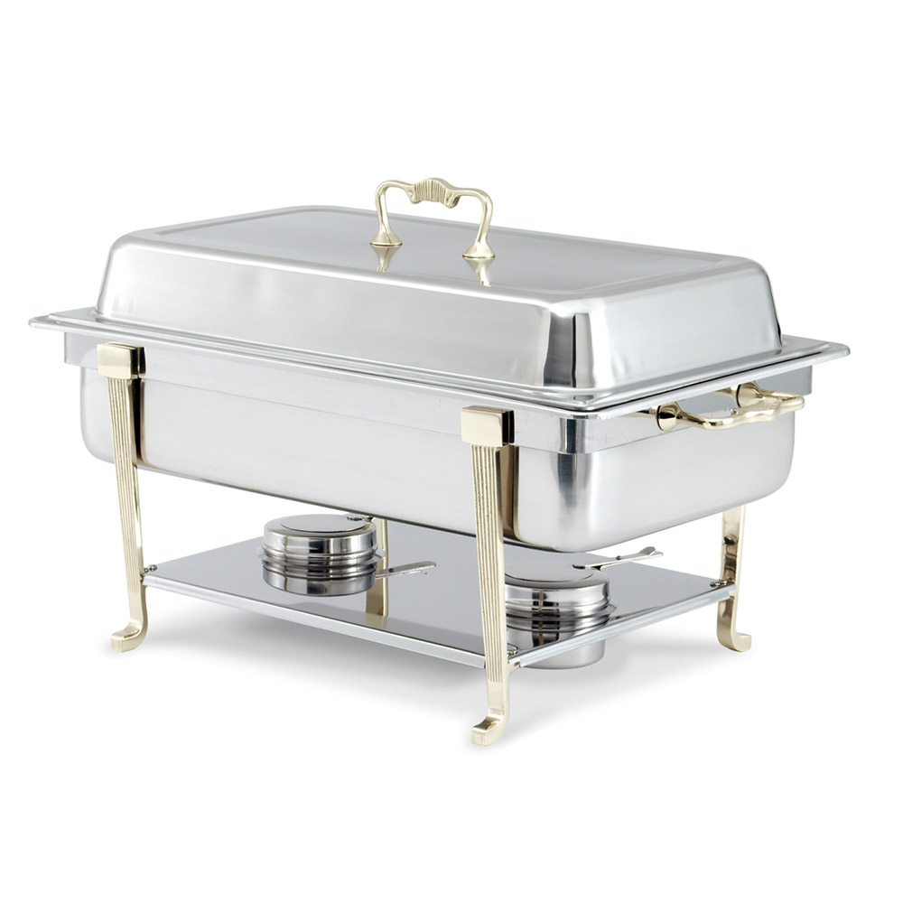 Vollrath 46050 Full Size Chafer w/ Lift-off Lid & Chafing Fuel Heat