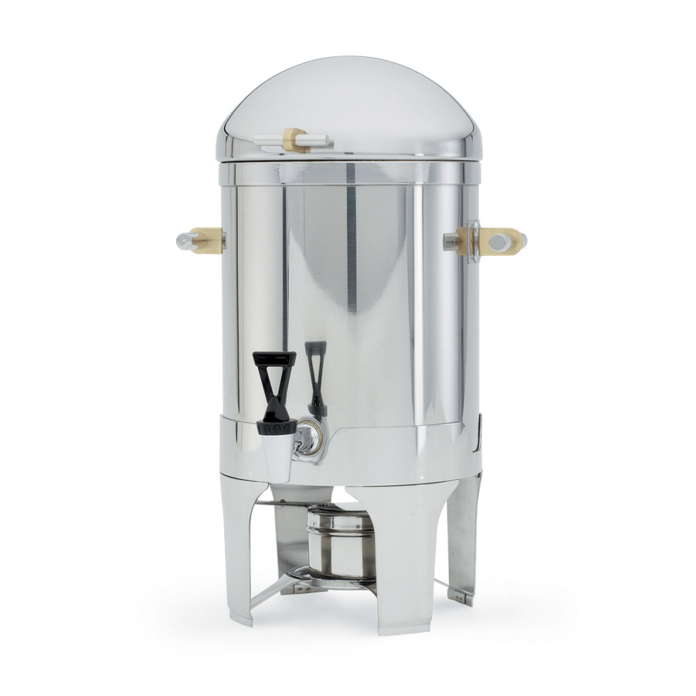 Vollrath 46093 3-Gal Coffee Urn - Fuel Holder Included, Brilliant Finish Stainless