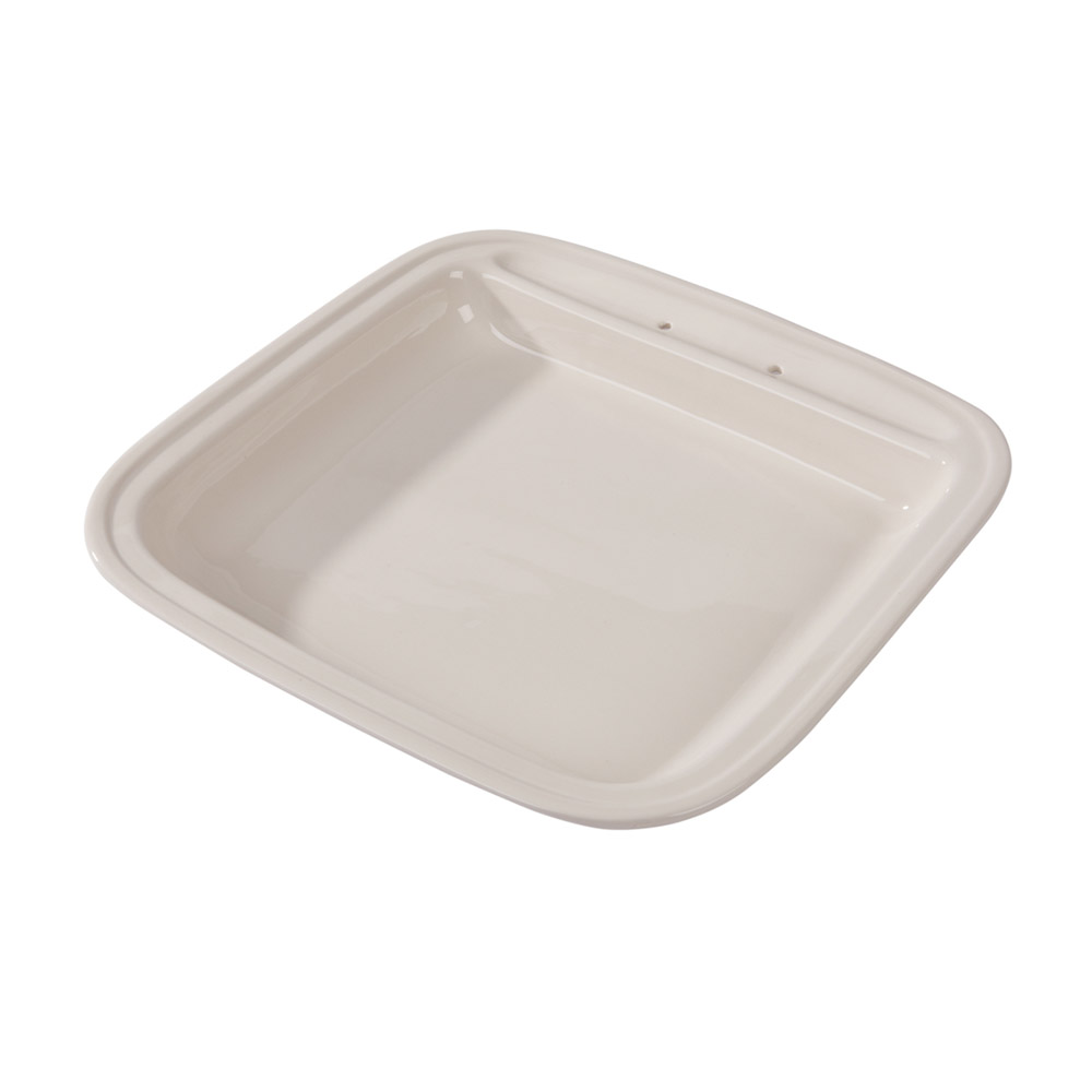 Vollrath 46136 6-qt Square Replacement Porcelain Food Pan