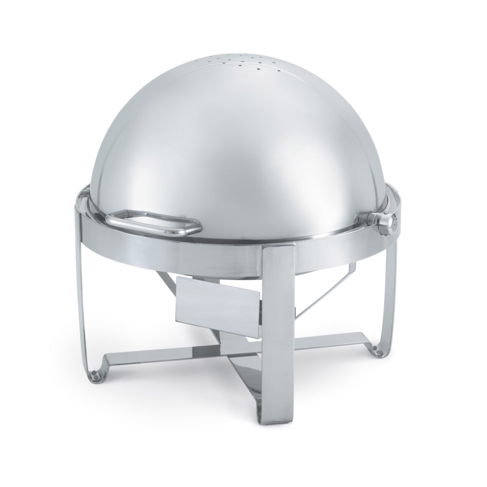 Vollrath 46360 6-qt. Round Chafer w/Roll-top Lid & Chafing Fuel Heat