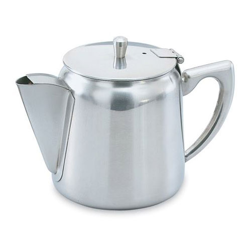 Vollrath 46370 12-oz Gooseneck Tea/Coffee Server with Strainer - Hollow Handle, Stainless