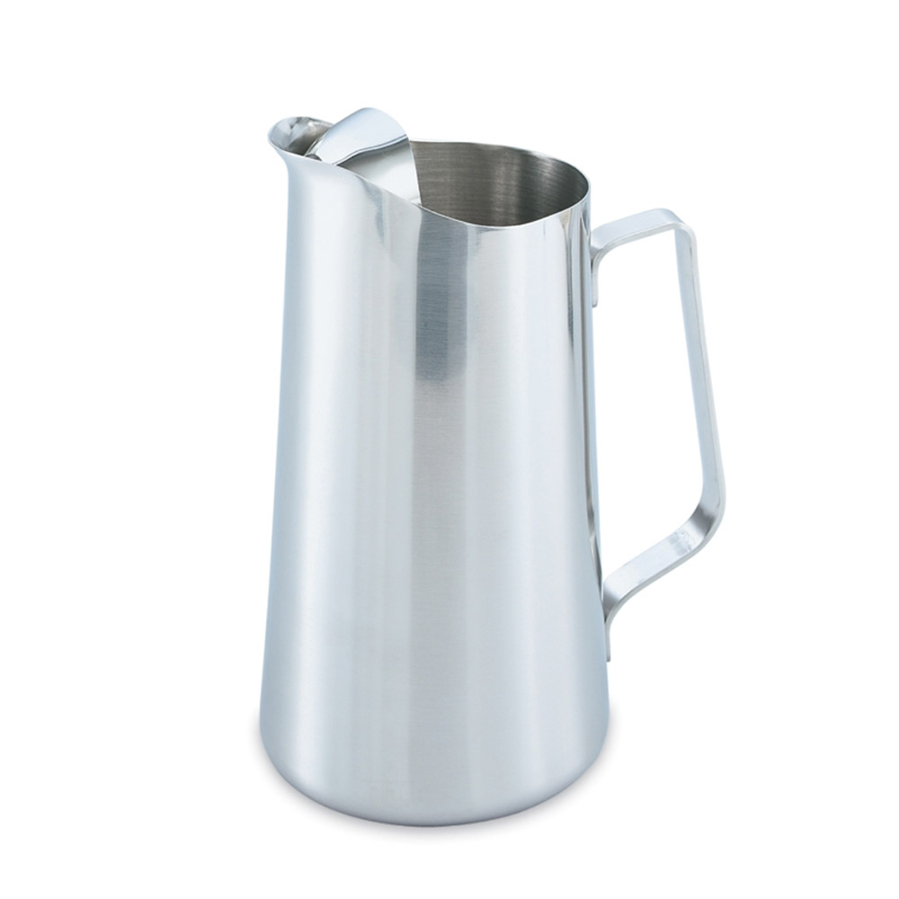Vollrath 46403 2-qt Water Pitcher - Ice Guard, Stainless