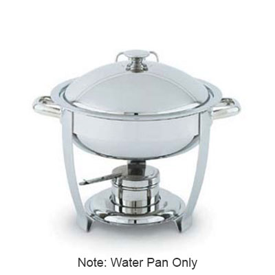 Vollrath 46487 6-qt Round Chafer Dripless Water Pan - Mirror-Finish