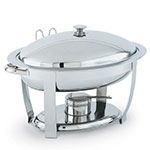 Vollrath 46500 6-qt Oval Heavy-Duty Chafer - Built-In Cover Holder, Mirror-Finish Stainless