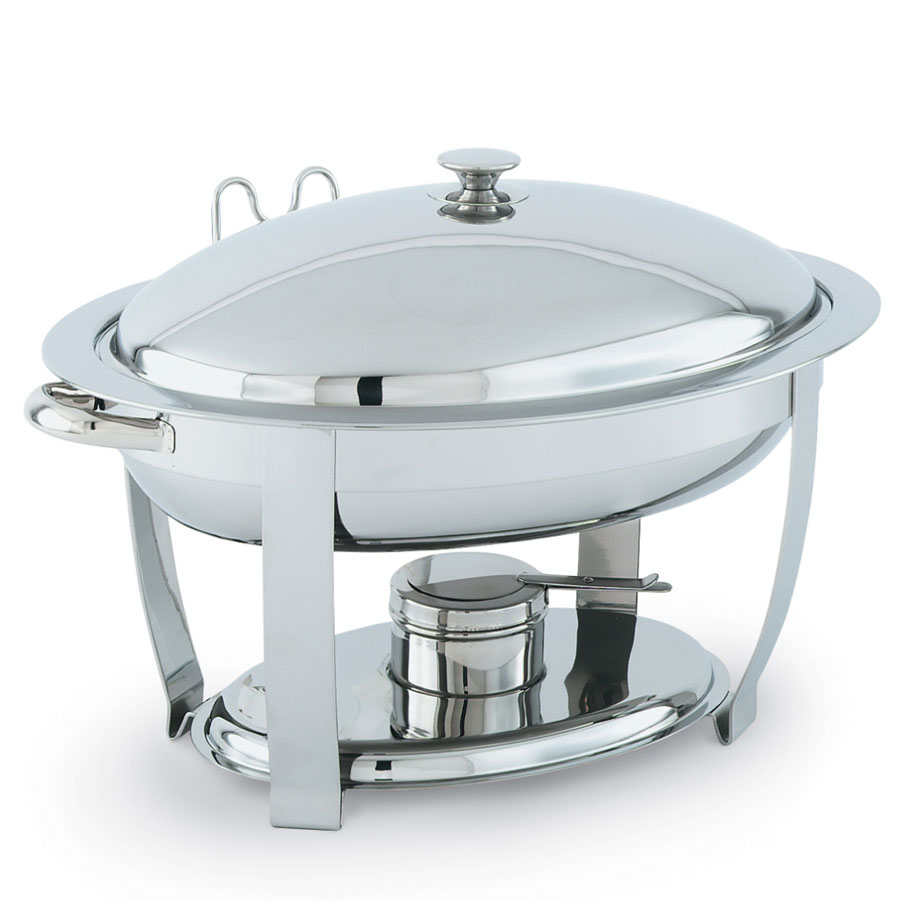 Vollrath 46500 Oval Chafer w/ Lift-off Lid & Chafing Fuel Heat