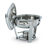Vollrath 46501 4-qt Oval Heavy-Duty Chafer - Built-In Cover Holder, Mirror-Finish Stainless