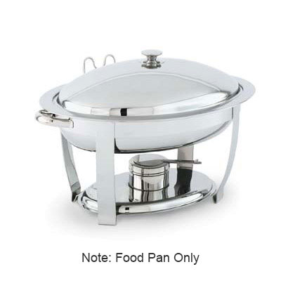 Vollrath 46505 4-qt Oval Heavy-Duty Chafer Food Pan