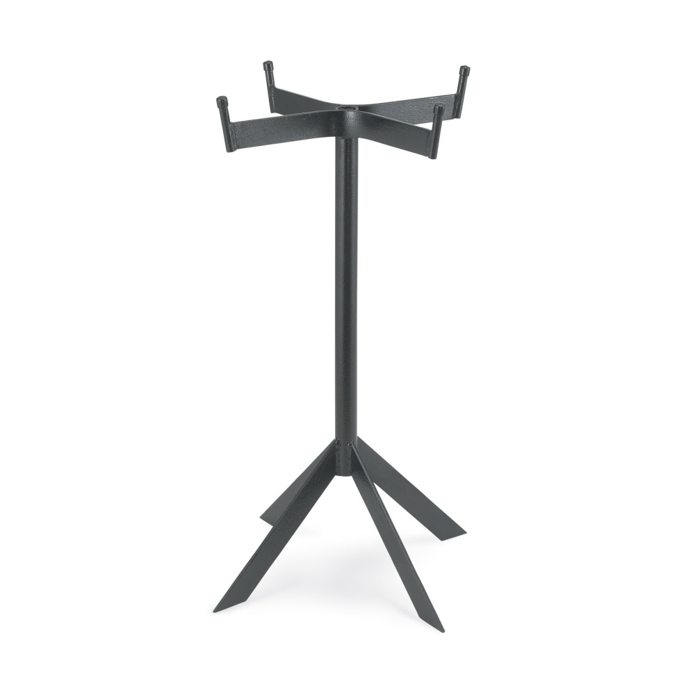 """Vollrath 46548 Floor Beverage Stand for Double-Wall Conical Beverage Bin - 26"""" H Black"""