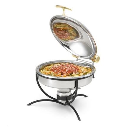 Vollrath 46549 Stand for Round Induction Chafers - Heavy-Duty, Black