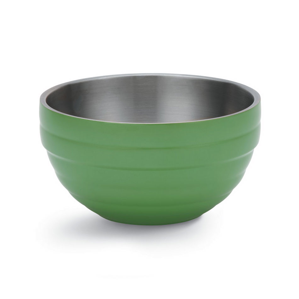 Vollrath 46569-35 10.1-qt Round Insulated Bowl - Stainless, Green Apple