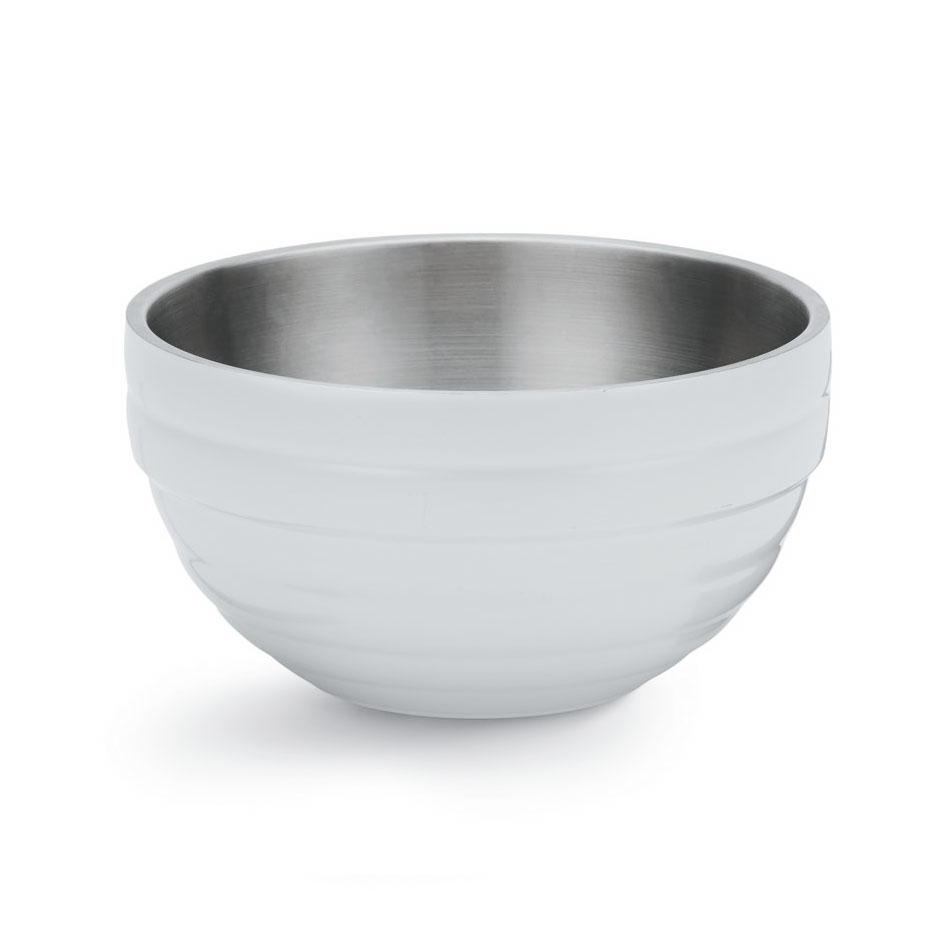 Vollrath 46569-50 10.1-qt Round Insulated Bowl - Stainless, Pearl White