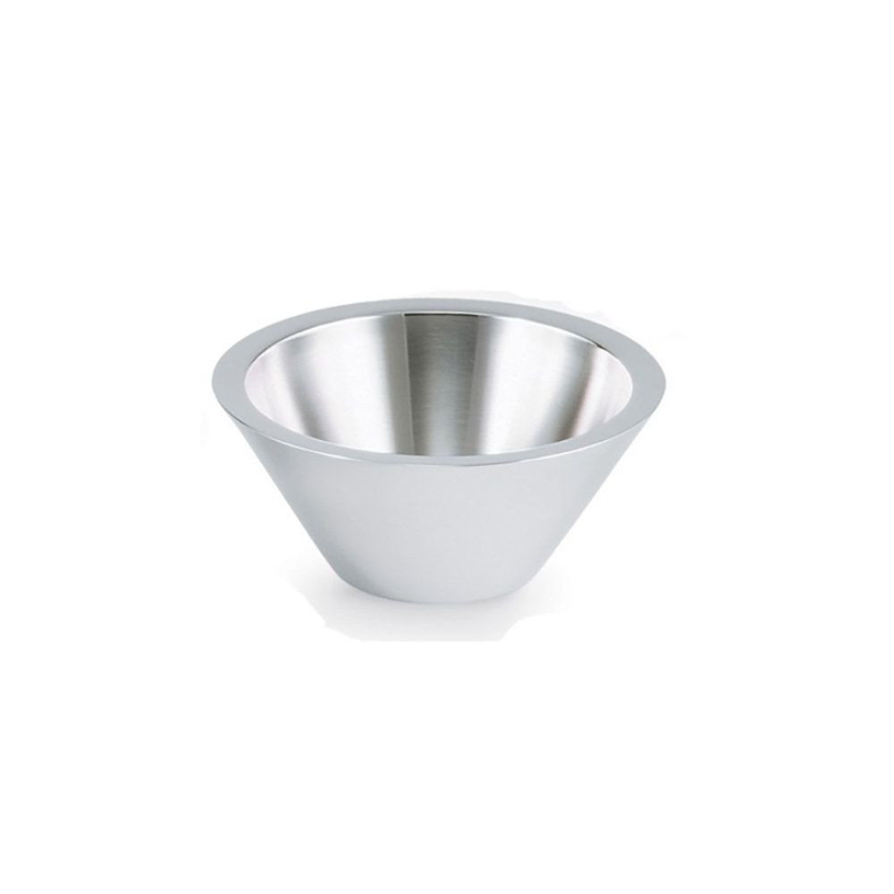 Vollrath 46576 1.4-qt Insulated Conical Bowl - 18-ga Stainless