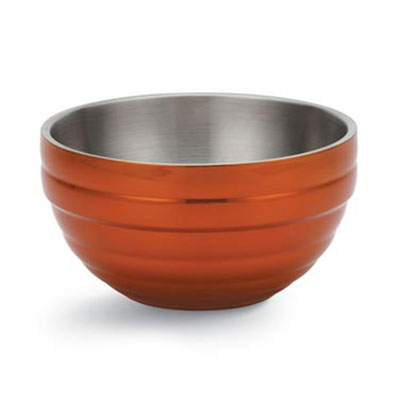 Vollrath 46587-10 .75-qt Round Insulated Bowl - 18-ga Stainless, Metallic Tangelo