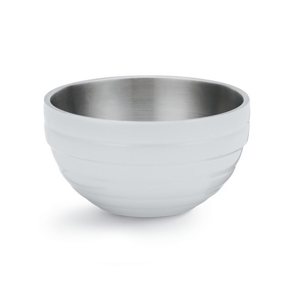 Vollrath 46587-50 .75-qt Round Insulated Bowl - 18-ga Stainless, Pearl White