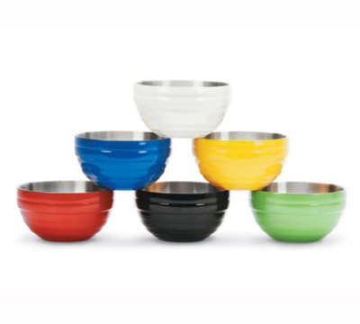 Vollrath 46569-40 10.1-qt-Round Beehive Bowl, Double Wall Insulated, Brazilian Blue