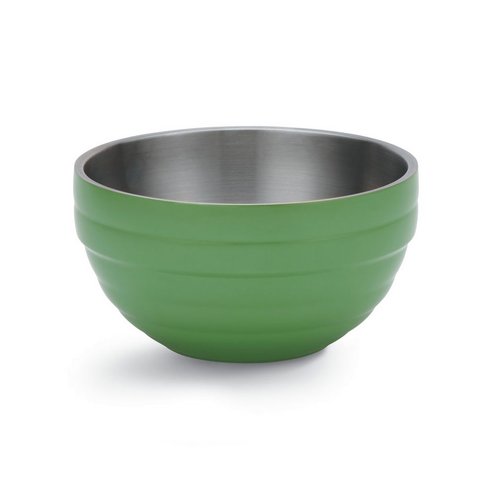 Vollrath 46590-35 1.7-qt Round Insulated Bowl - 18-ga Stainless, Green Apple