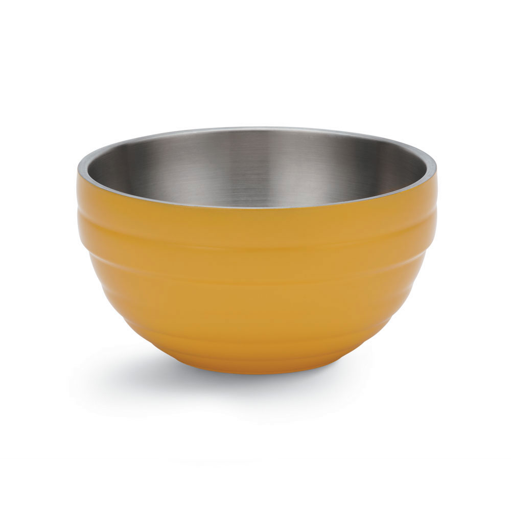 Vollrath 46590-45 1.7-qt Round Insulated Bowl - 18-ga Stainless, Nugget Yellow